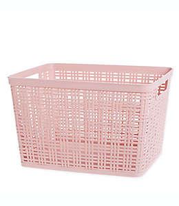 Canasta grande Starplast de plástico en rosa blush