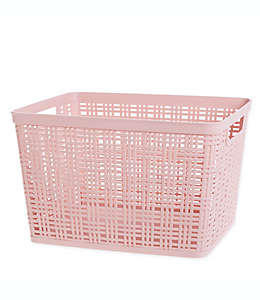 Canasta grande de polipropileno Starplast color rosa blush
