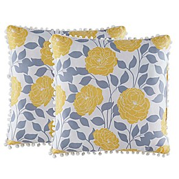Isaac Mizrahi Home Jasmine Square Throw Pillows (Set of 2)