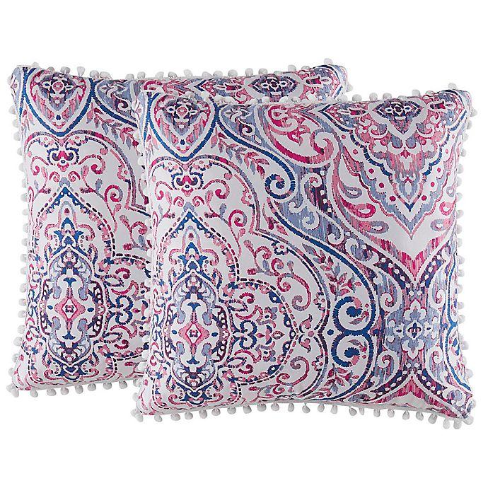 Alternate image 1 for Isaac Mizrahi Home Natalia Square Throw Pillows (Set of 2)