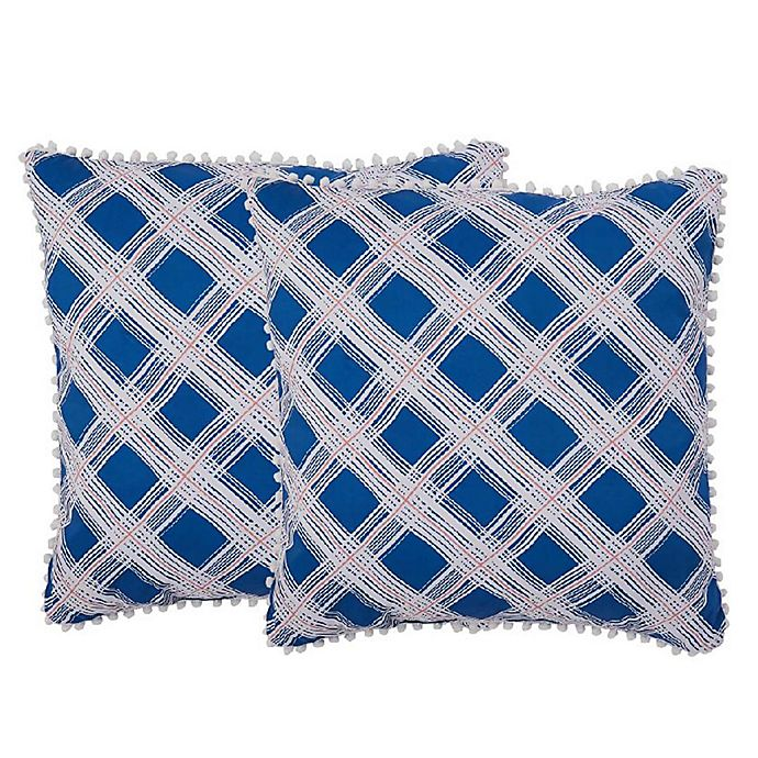 Alternate image 1 for Isaac Mizrahi Home Presley Square Throw Pillows (Set of 2)