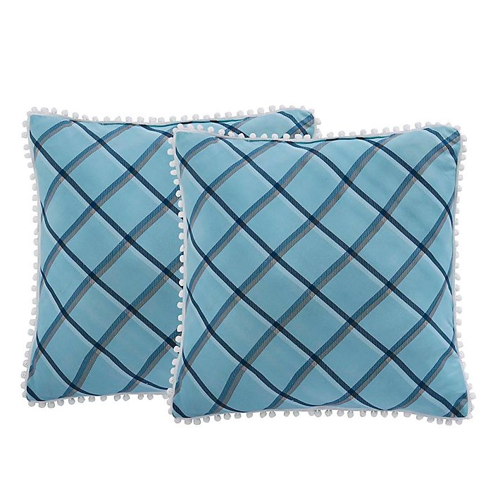 Alternate image 1 for Isaac Mizrahi Home Taylor Square Throw Pillows (Set of 2)