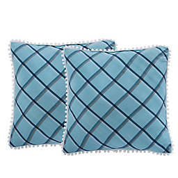 Isaac Mizrahi Home Taylor Square Throw Pillows (Set of 2)