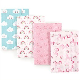 Luvable Friends® 4-Pack Unicorn Burp Cloths