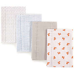 Luvable Friends® 4-Pack Geo Fox Burp Cloths