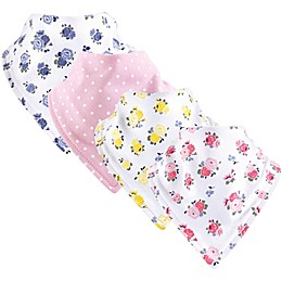 Luvable Friends® 4-Pack Floral Bandana Bibs in Yellow
