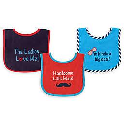 Luvable Friends® 3-Pack Drooler Bibs in Dark Blue/Red
