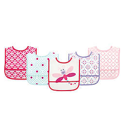 Luvable Friends® 5-Pack Dragonfly Bibs in Pink