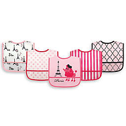 Luvable Friends® 5-Pack Paris Bibs in Pink