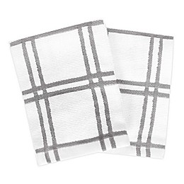 KitchenSmart® Colors Plaid Dish Cloths (Set of 2)