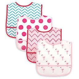 Luvable Friends® 4-Piece Flamingo Bib Set in Pink