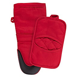 KitchenSmart® Colors 2-Piece Oven Mitt and Pot Holder Set