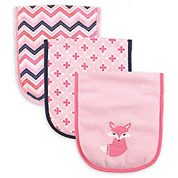 Luvable Friends® 4-Pack Foxy Burp Cloths in Pink