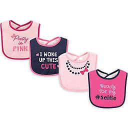Luvable Friends® 4-Pack Drooler Bibs in Pink/Multi