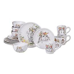 Certified International Sweet Bunny 16-Piece Dinnerware Set