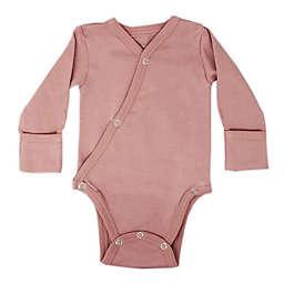 L'ovedbaby® Size 0-3M Short Sleeve Kimono Organic Cotton Long Sleeve Bodysuit in Mauve