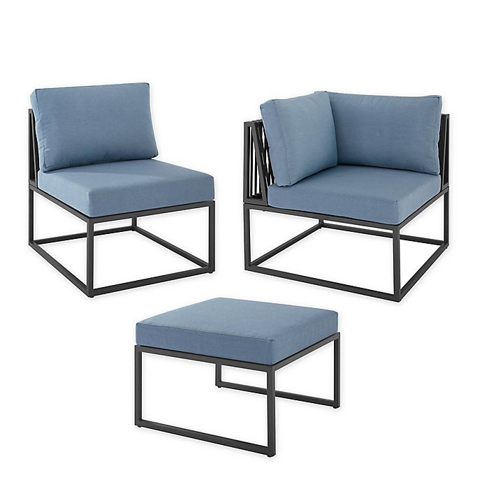 Alternate image 1 for Forest Gate Hector Patio Furniture Collection in Blue