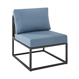 Forest Gate Hector Patio Side Chair in Blue