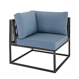 Forest Gate Hector Patio Corner Chair in Blue