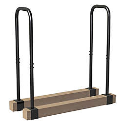 Landmann® Lumberjack Series Steel Adjustable Log Rack in Black