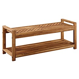 Forest Gate™ Olive Acacia Wood Patio Bench