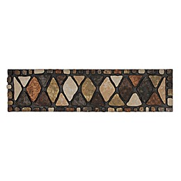 """MOHAWK HOME® Stone City 35"""" x 9"""" Outdoor Stair Tread in Brown"""