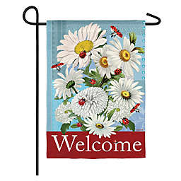 Evergreen Daisies and Ladybugs Double-Sided Garden Flag