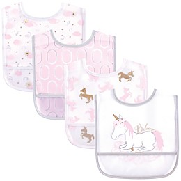 Yoga Sprout 4-Pack Unicorn Bibs