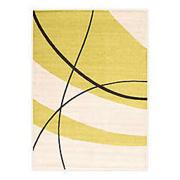 ECARPETGALLERY Cosi 7'10 x 10'2 Indoor/Outdoor Area Rug in Cream/Green