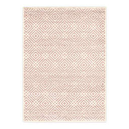 ECARPETGALLERY Ember 7'10 x 10'2 Indoor/Outdoor Area Rug in Silver/Pink