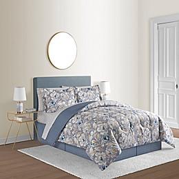 Kamryn Floral 8-Piece Reversible Comforter Set