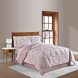 Farrah Plum 8-Piece Reversible Comforter Set