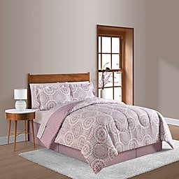 Farrah Plum 8-Piece Reversible Queen Comforter Set