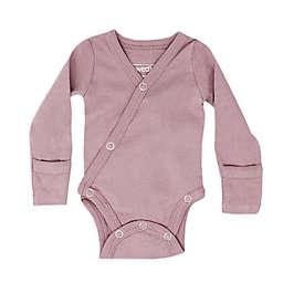 L'ovedbaby® Size 0-3M Kimono Organic Cotton Long Sleeve Bodysuit in Lavender