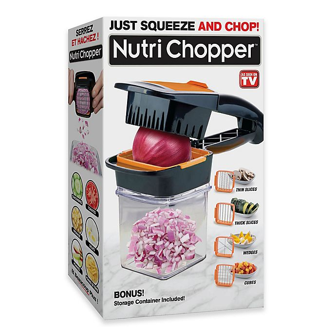 Alternate image 1 for Nutri Chopper Kitchen Slicer & Chopper in Black
