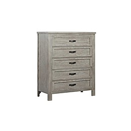 Soho Baby Hanover 5-Drawer Chest in Oak/Grey