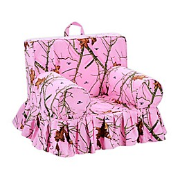 Mossy Oak Nativ Living Foam Kid's Chair in Mossy Pink
