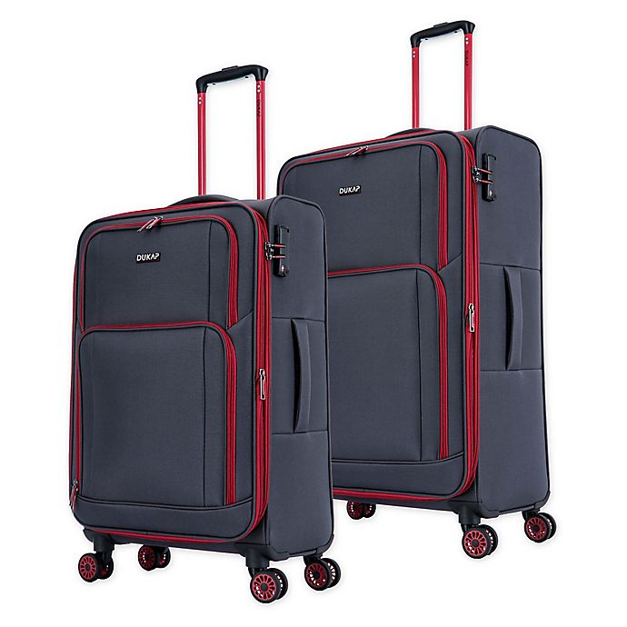 Alternate image 1 for DUKAP® Steam Spinner Checked Luggage