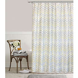 Colordrift Chevron Mirage Shower Curtain