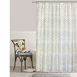 Colordrift Chevron Mirage 72-Inch x 96-Inch Shower Curtain in Yellow