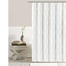 Colordrift Brianna Fret 72-Inch x 96-Inch Shower Curtain in Ivory