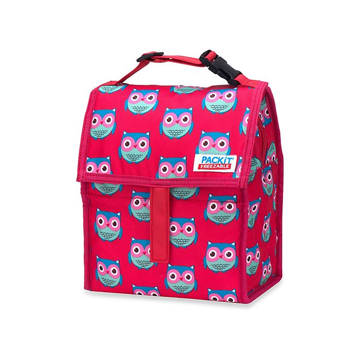 Alternate image 1 for PACKiT® Freezable Lunch Bag in Pink Owls