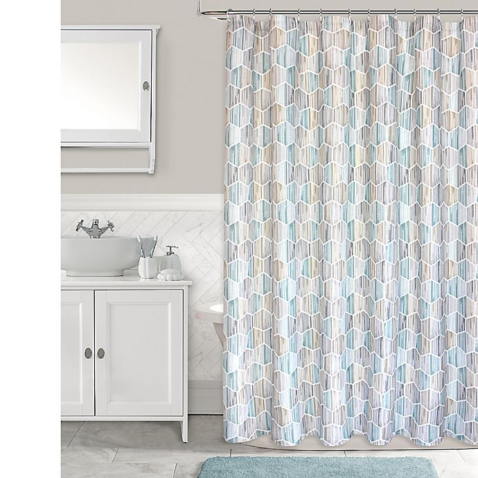 Alternate image 1 for Honeycomb Shower Curtain