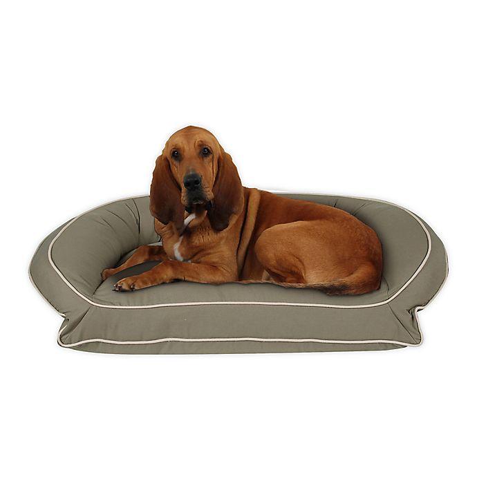 Alternate image 1 for Carolina Pet Canvas Orthopedic Bolster Pet Bed w/ Contrast Cording