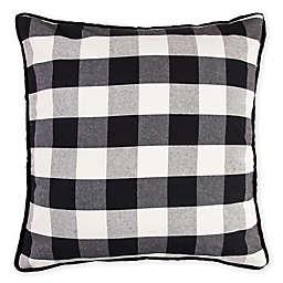HiEnd Accents Buffalo Check European Pillow Sham in Black/Cream