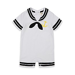 Beetle & Thread® Sailor Romper in White