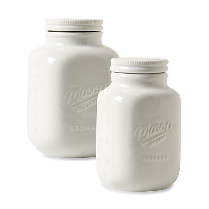 Alternate image 1 for Mason White Porcelain Canister