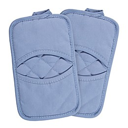 KitchenSmart® Colors 2 Solid Pocket Pot Mitts in Capri (Set of 2)