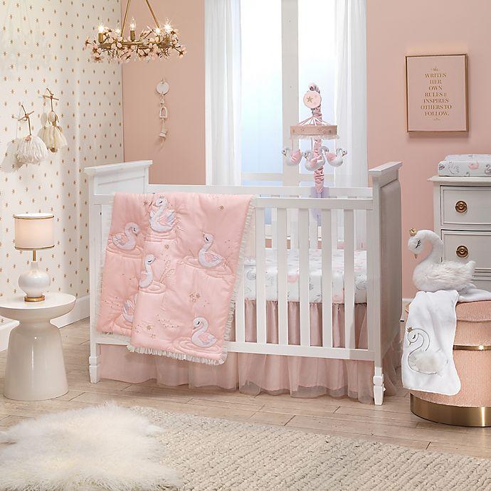 Alternate image 1 for Lambs & Ivy® Swan Princess 3-Piece Crib Bedding Set in Pink