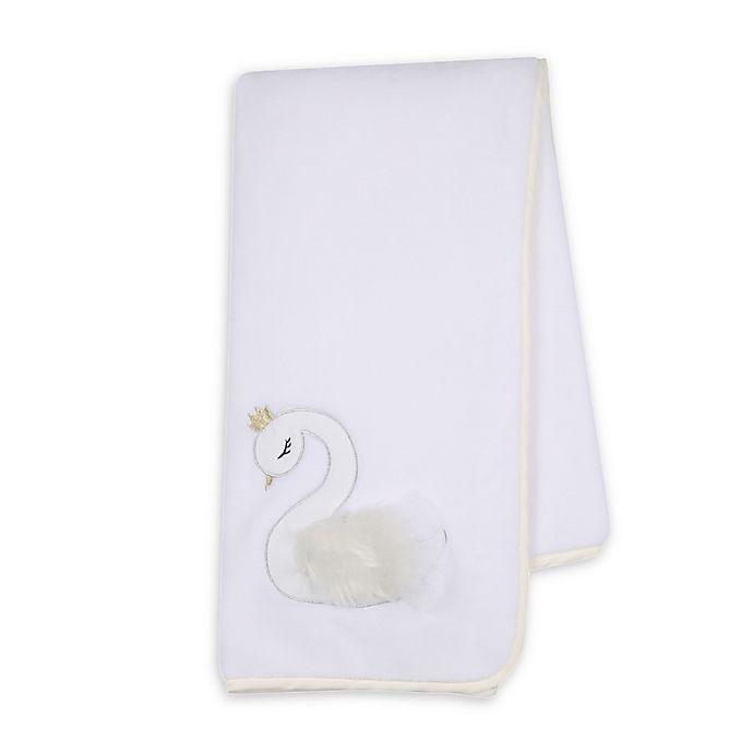 Alternate image 1 for Lambs & Ivy® Swan Princess Stroller Blanket in White